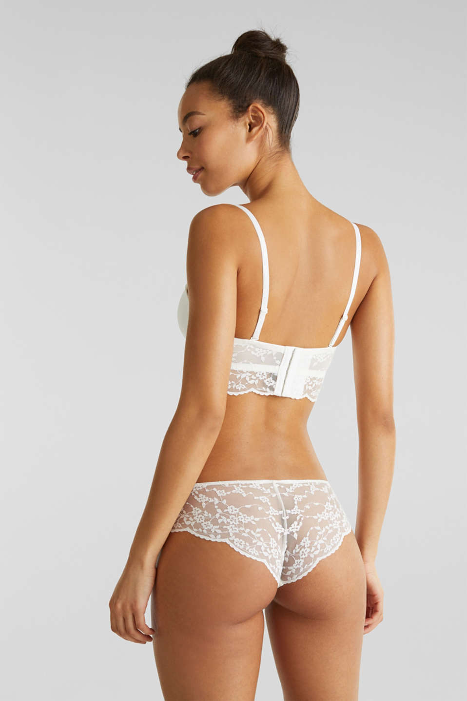 Hipster briefs in lace, OFF WHITE, detail image number 2
