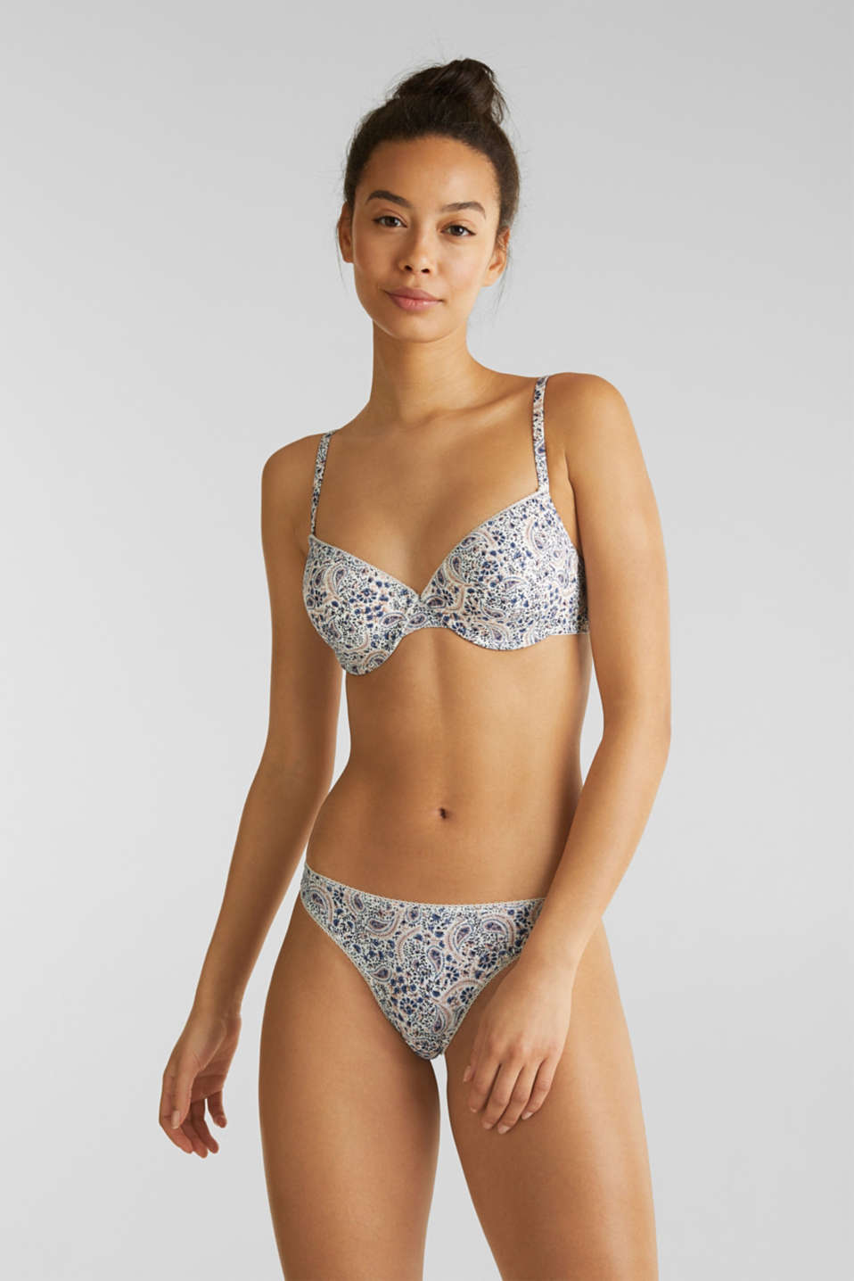 Esprit - Hipster-string met paisleyprint