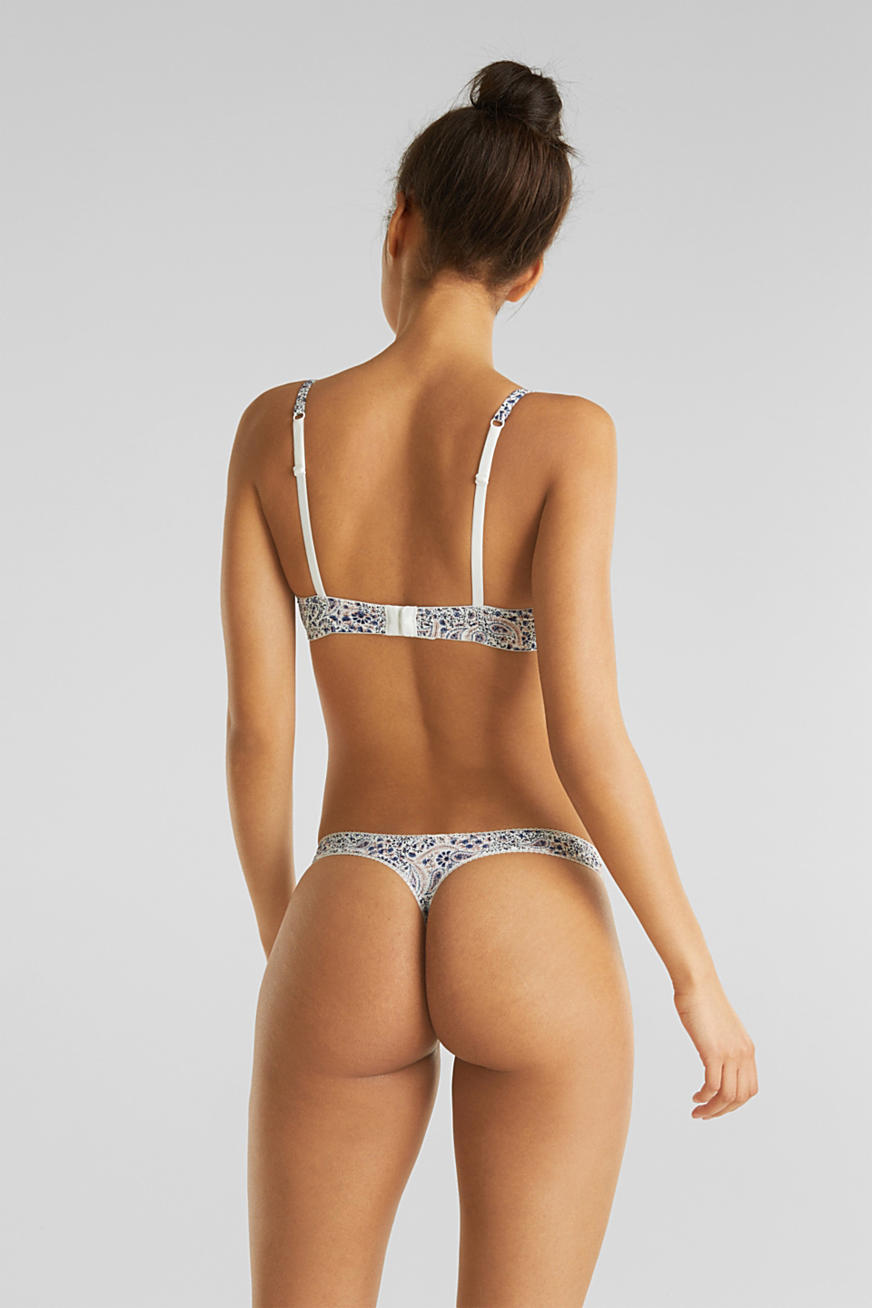 Hipster thong with a paisley print