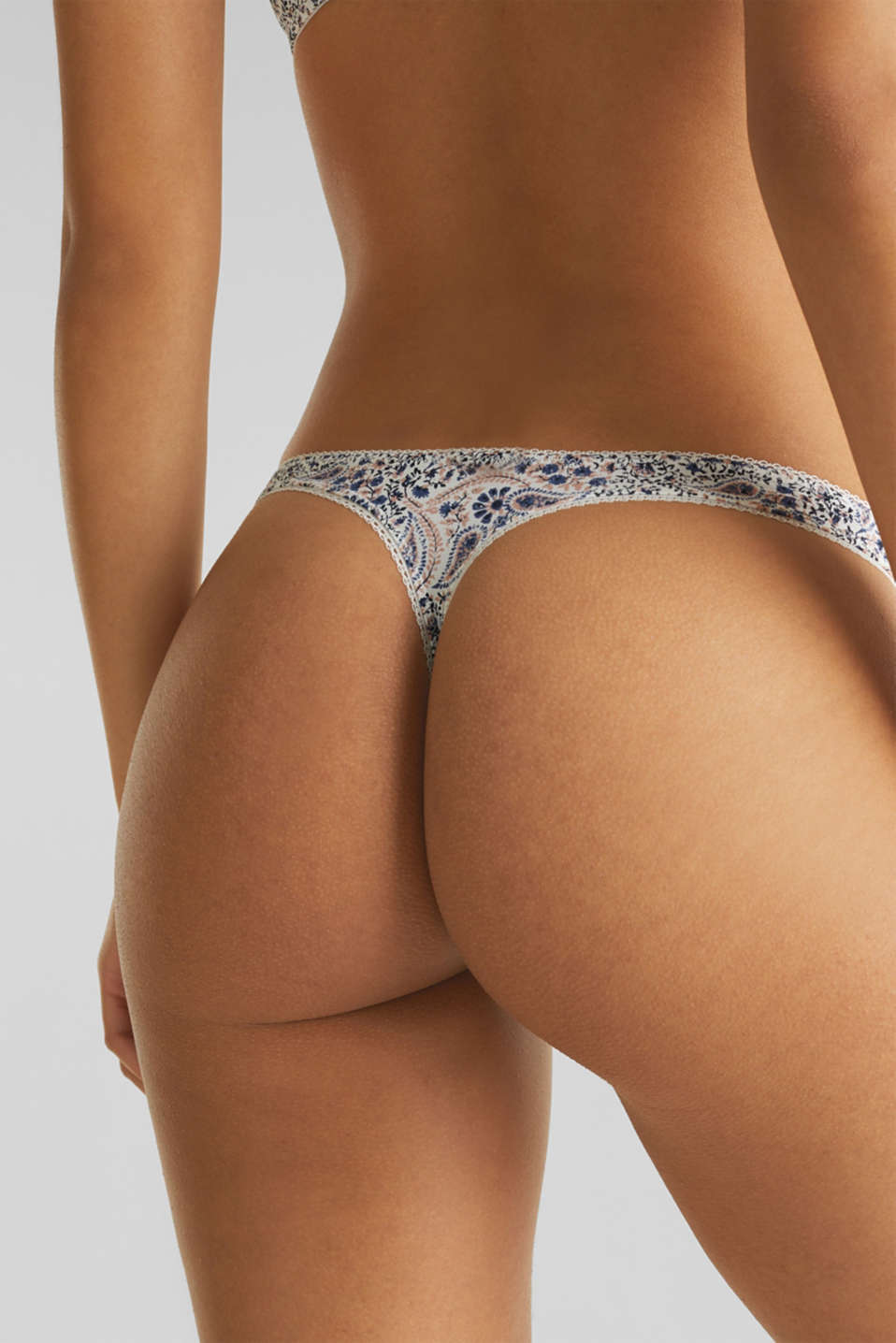 Hipster thong with a paisley print, OFF WHITE, detail image number 3