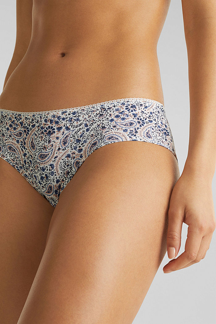 Hipster-Shorts mit Paisley-Print, OFF WHITE, detail image number 1