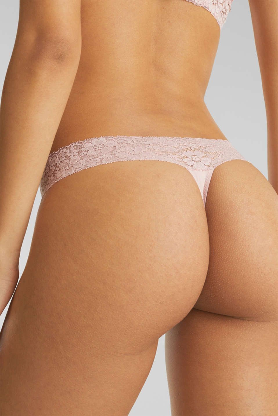 Hipster thong with a lace waistband, OLD PINK, detail image number 3