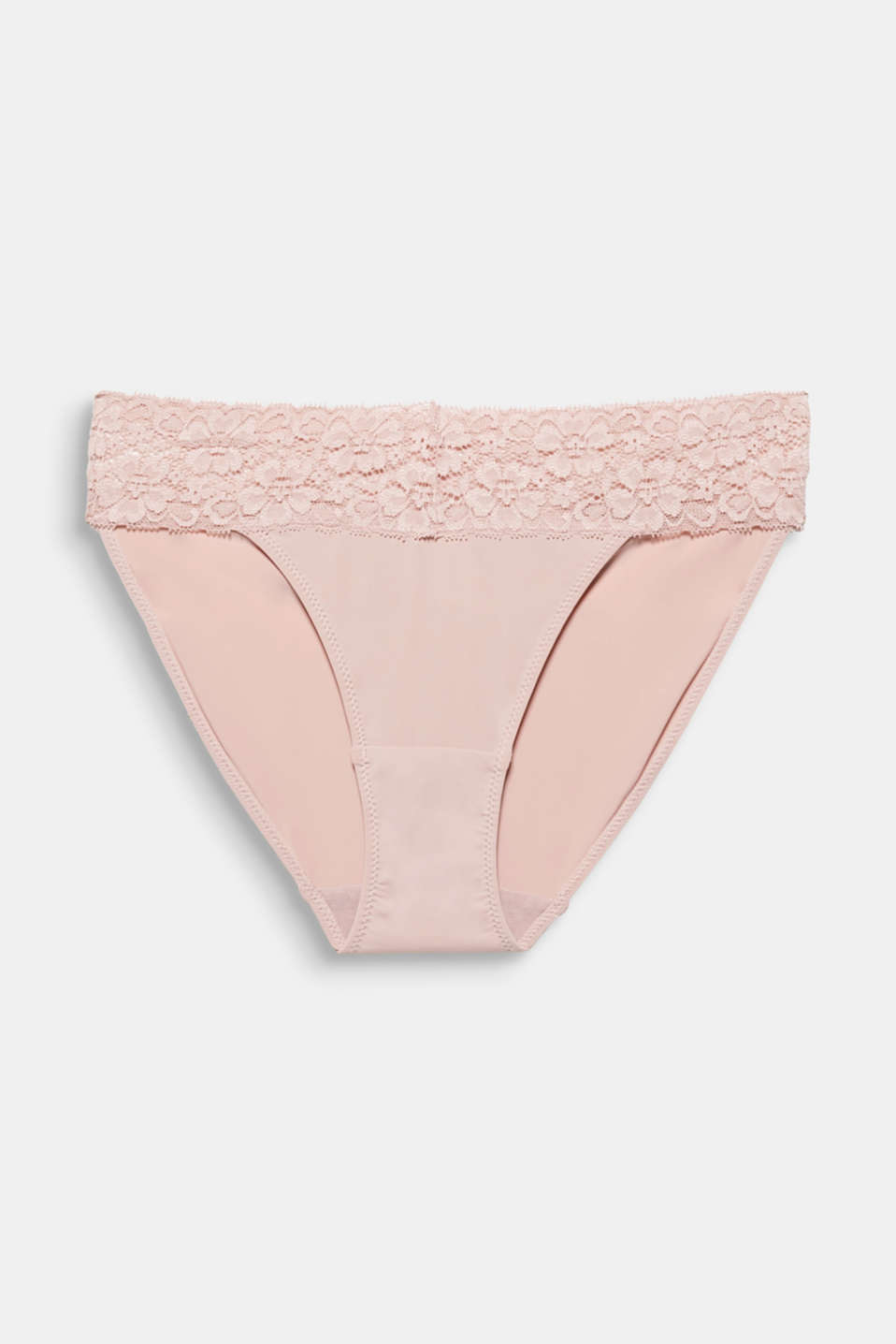 Hipster briefs with a lace waistband, OLD PINK, detail image number 3