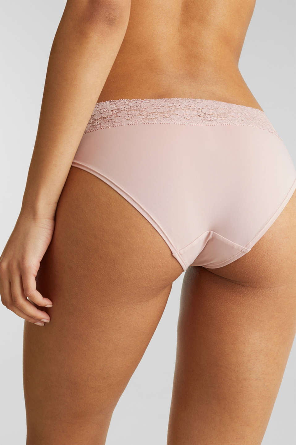 Hipster shorts with a lace waistband, OLD PINK, detail image number 1