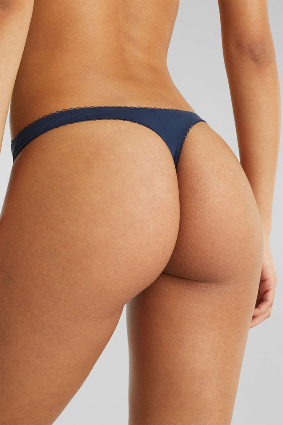 Filigree lace hipster thong, NAVY 2, detail image number 3