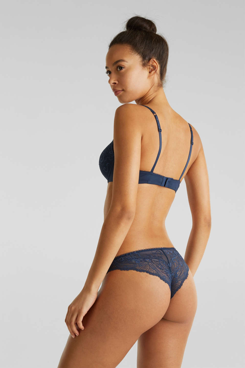 Hipster briefs made of filigree lace, NAVY 2, detail image number 2