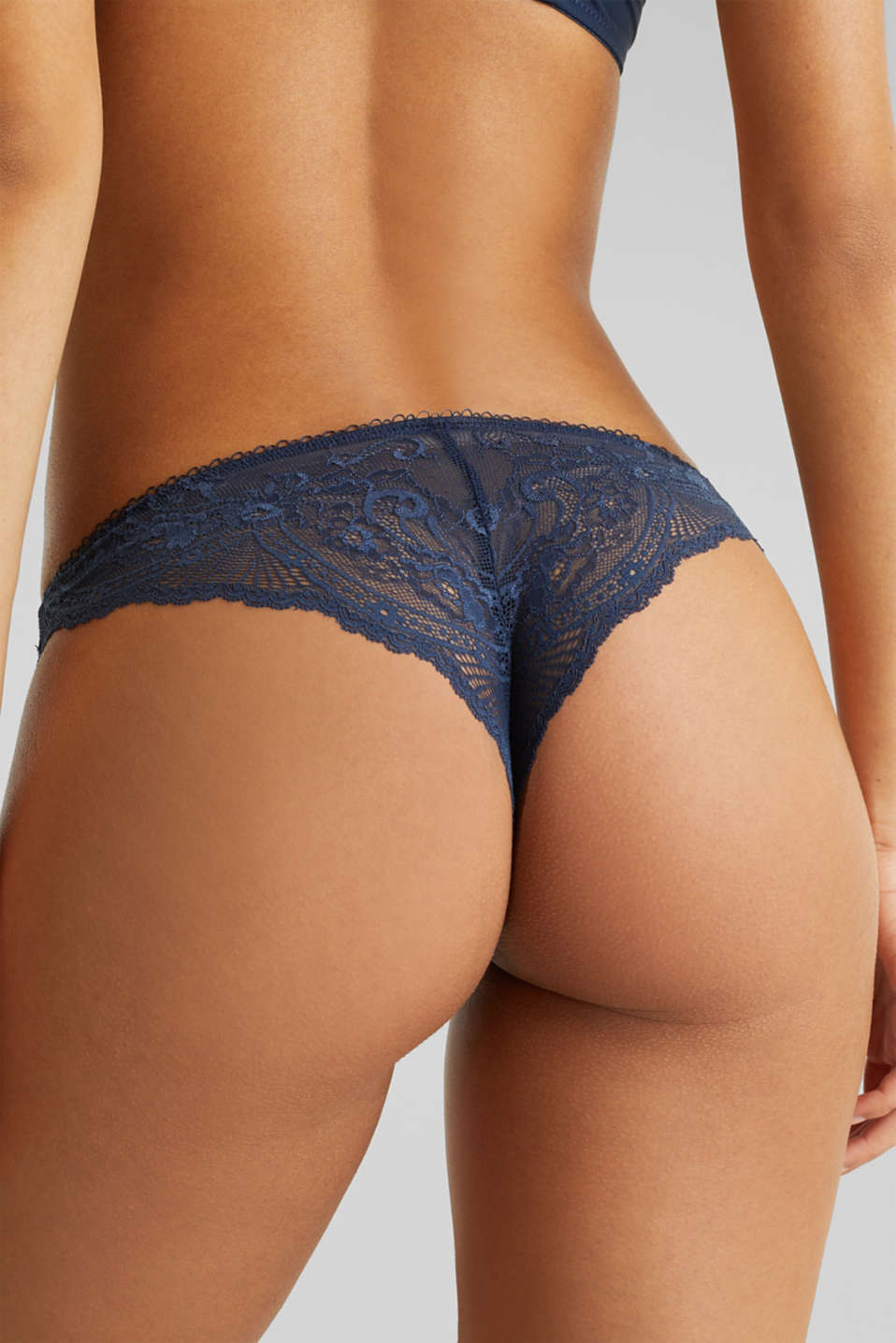 Hipster briefs made of filigree lace, NAVY 2, detail image number 3