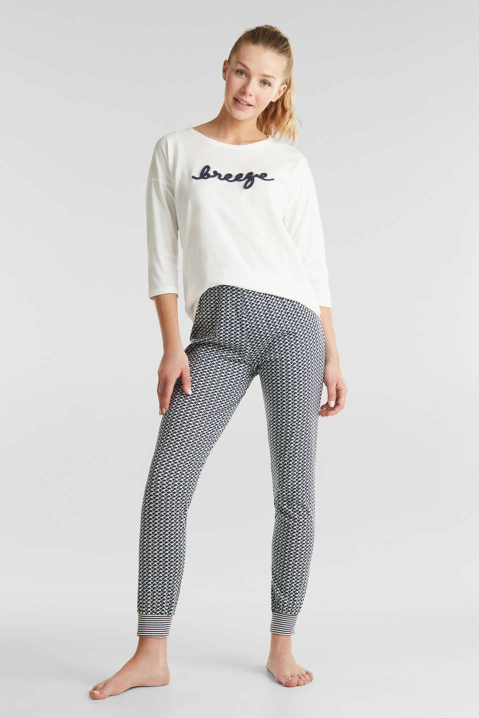 Esprit - Jersey pyjamas with statement cord ties