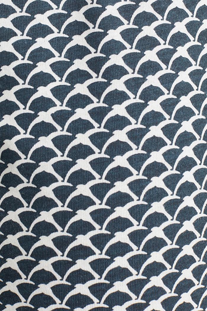 Jersey pyjama van een katoenmix, NAVY, detail image number 2