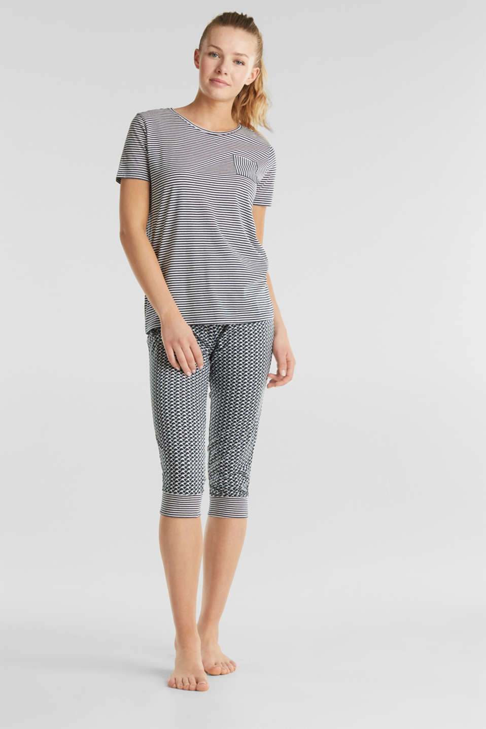 Esprit - Jersey pyjamas in a mix of patterns