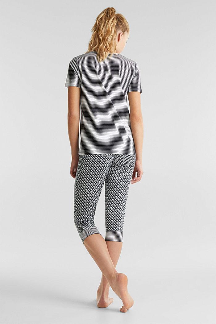 Jersey pyjama met motiefmix, NAVY, detail image number 1