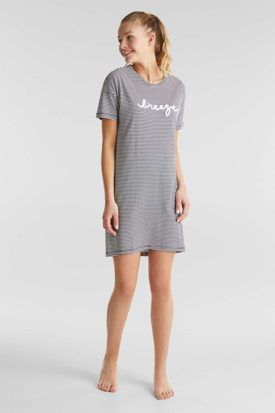Esprit - Jersey nightshirt, 100% cotton