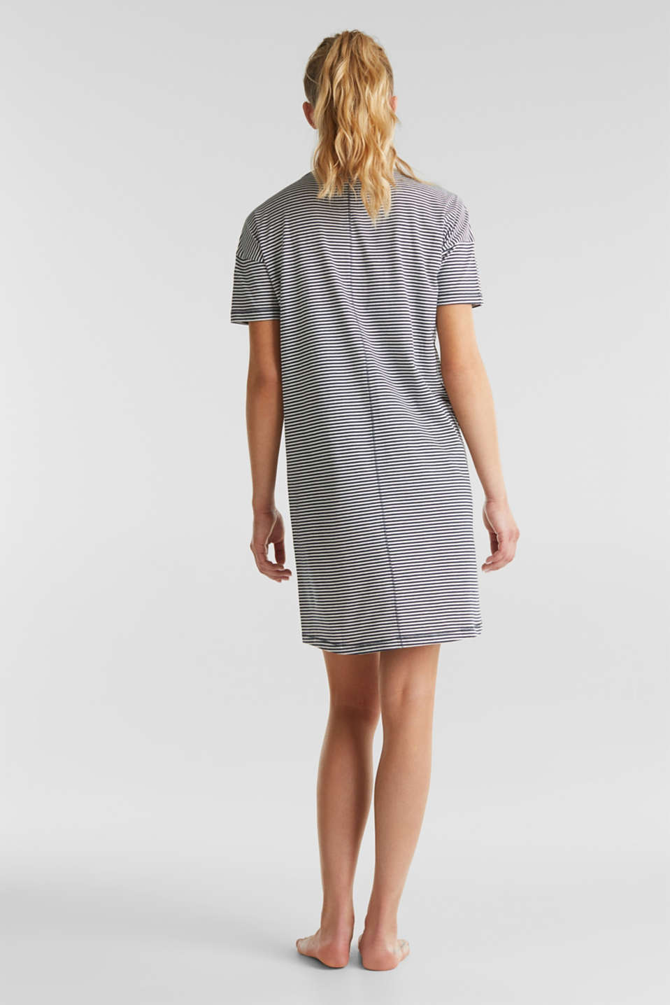 Jersey nightshirt, 100% cotton, NAVY 2, detail image number 1