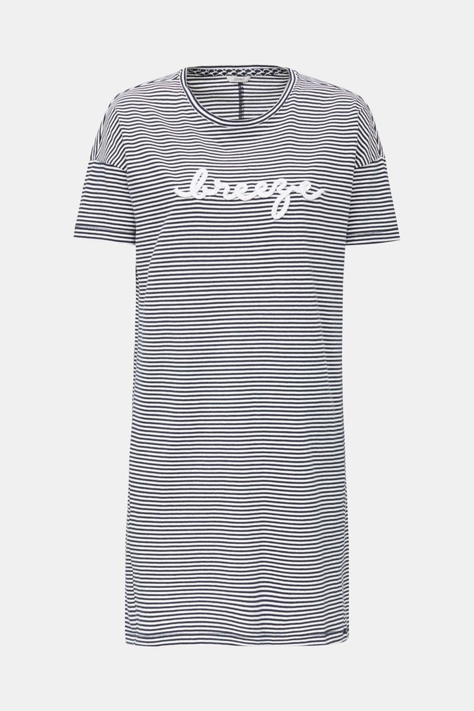 Jersey nightshirt, 100% cotton, NAVY 2, detail image number 3