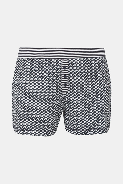 Jersey shorts with a swallow print