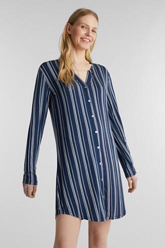 Jersey Henley-style nightshirt