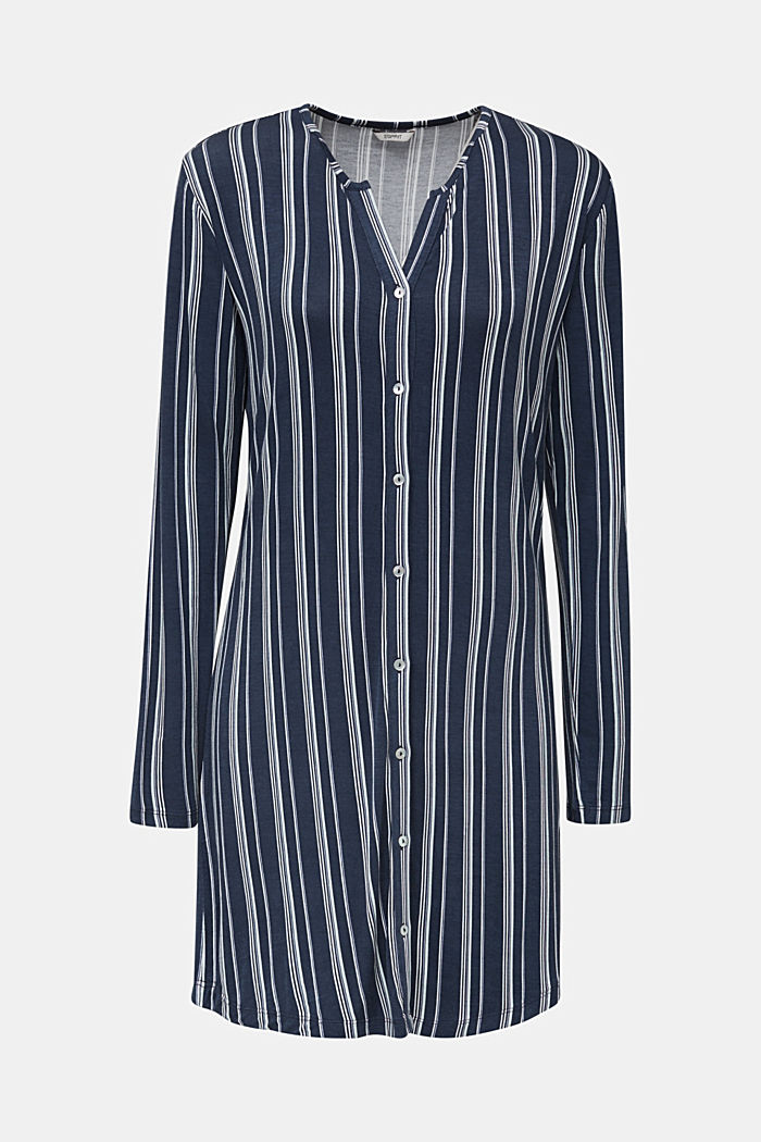 Jersey Henley-style nightshirt, NAVY, detail image number 6