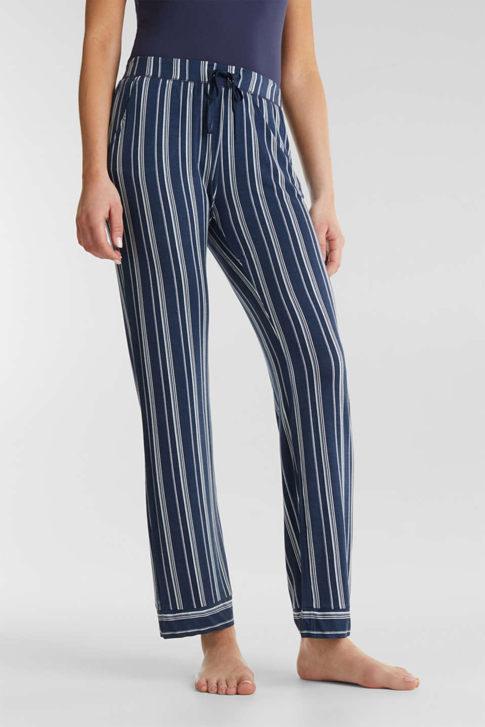 Esprit - Stretch jersey bottoms with stripes