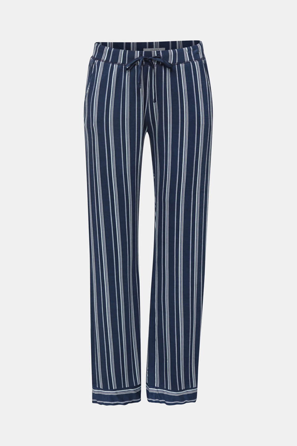 Stretch jersey bottoms with stripes, NAVY 2, detail image number 4