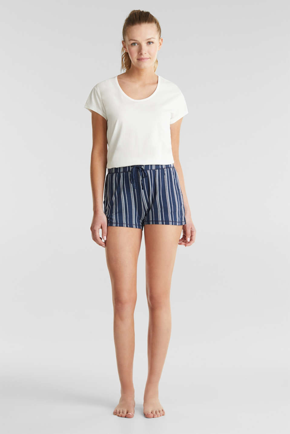 Esprit - Striped jersey shorts