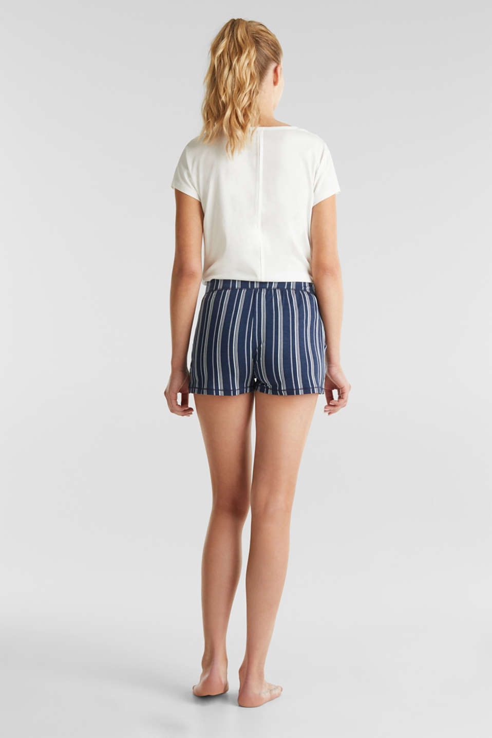 Striped jersey shorts, NAVY 2, detail image number 2