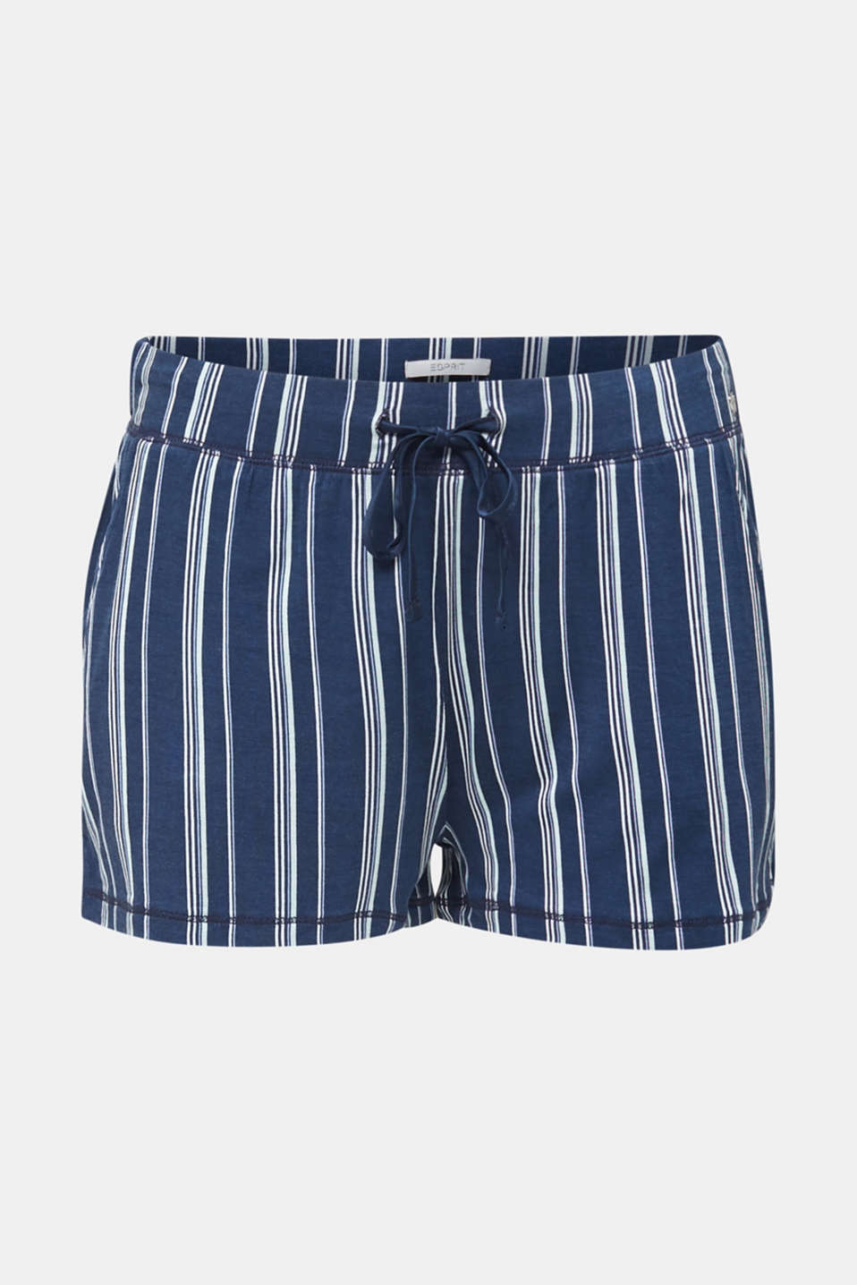 Striped jersey shorts, NAVY 2, detail image number 4