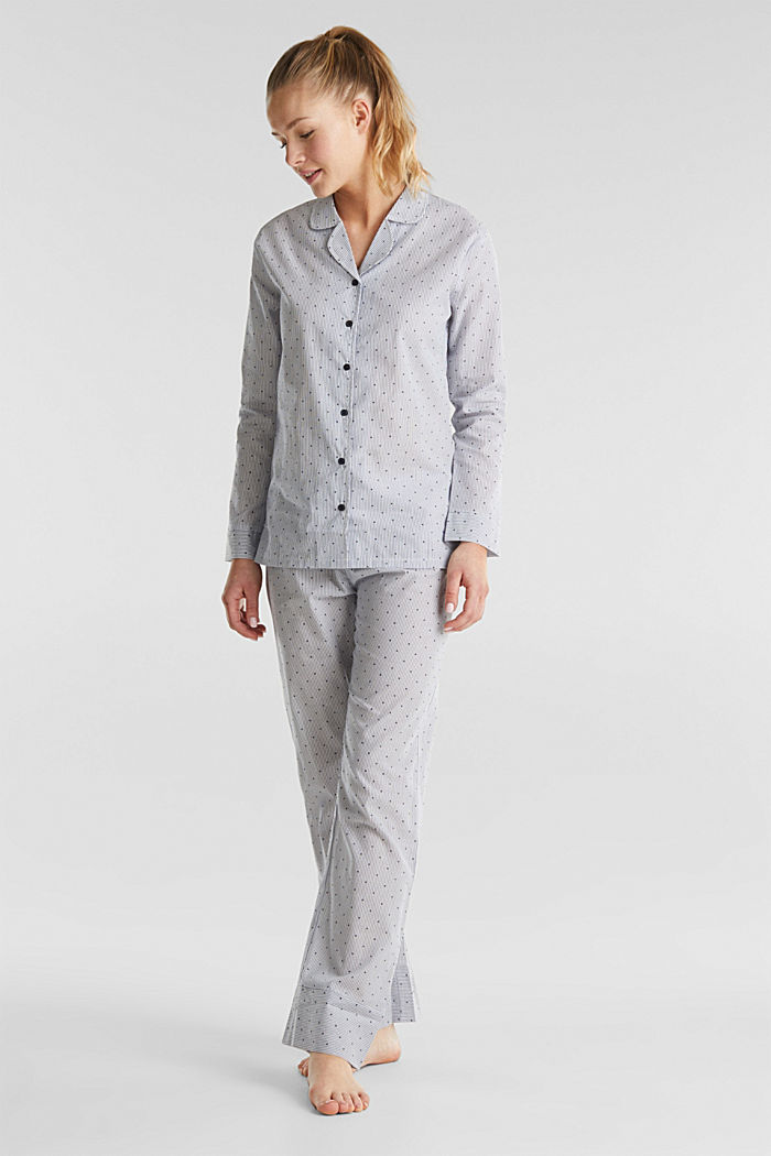 Woven pyjamas made of 100% cotton, BLUE LAVENDER, detail image number 0