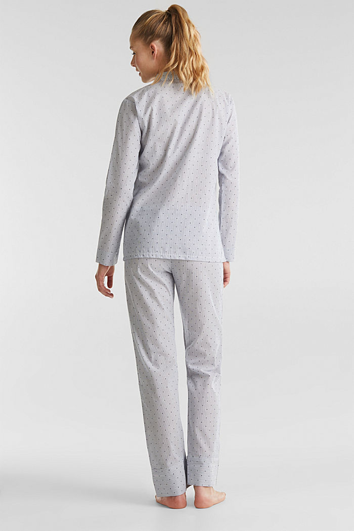Woven pyjamas made of 100% cotton, BLUE LAVENDER, detail image number 1