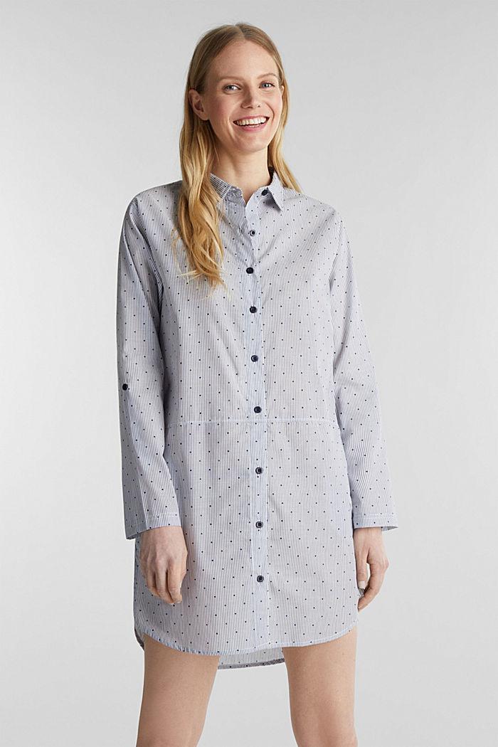 Woven nightshirt, 100% cotton, BLUE LAVENDER, detail image number 1