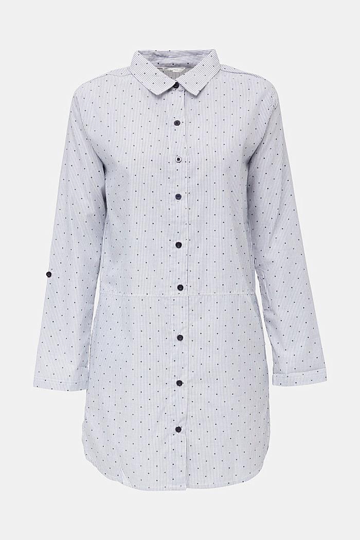Woven nightshirt, 100% cotton, BLUE LAVENDER, detail image number 6