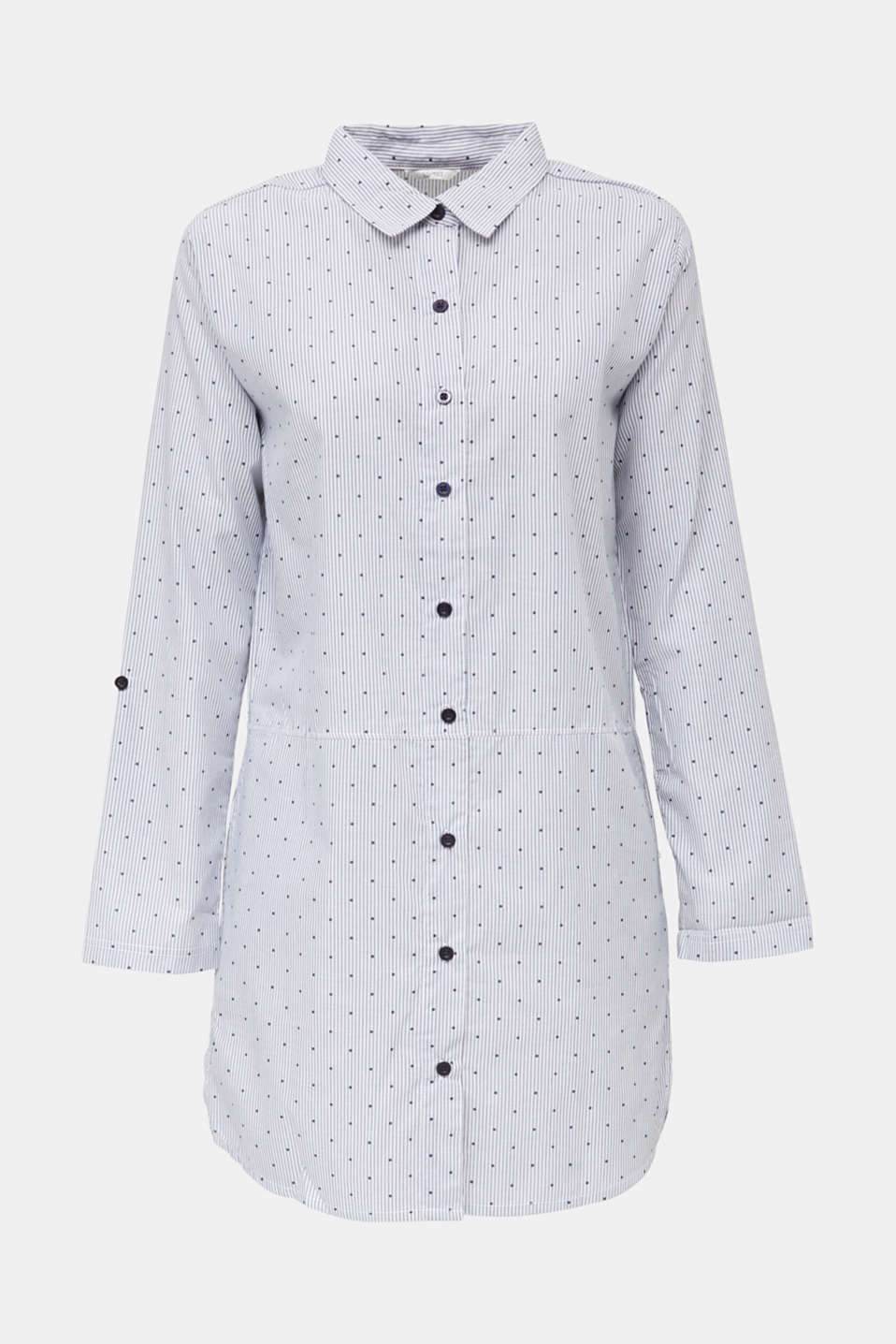 Woven nightshirt made of 100% cotton, BLUE LAVENDER, detail image number 4