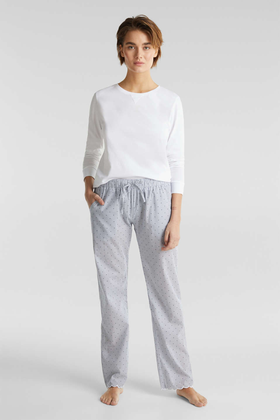 Esprit - Woven trousers made of 100% cotton