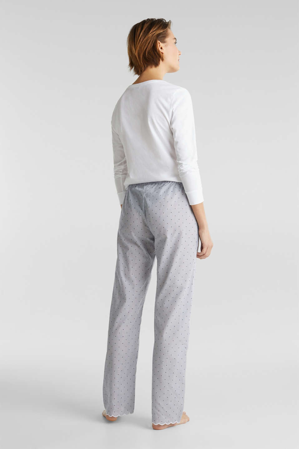 Woven trousers made of 100% cotton, BLUE LAVENDER, detail image number 3