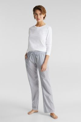 Woven trousers made of 100% cotton, BLUE LAVENDER, detail