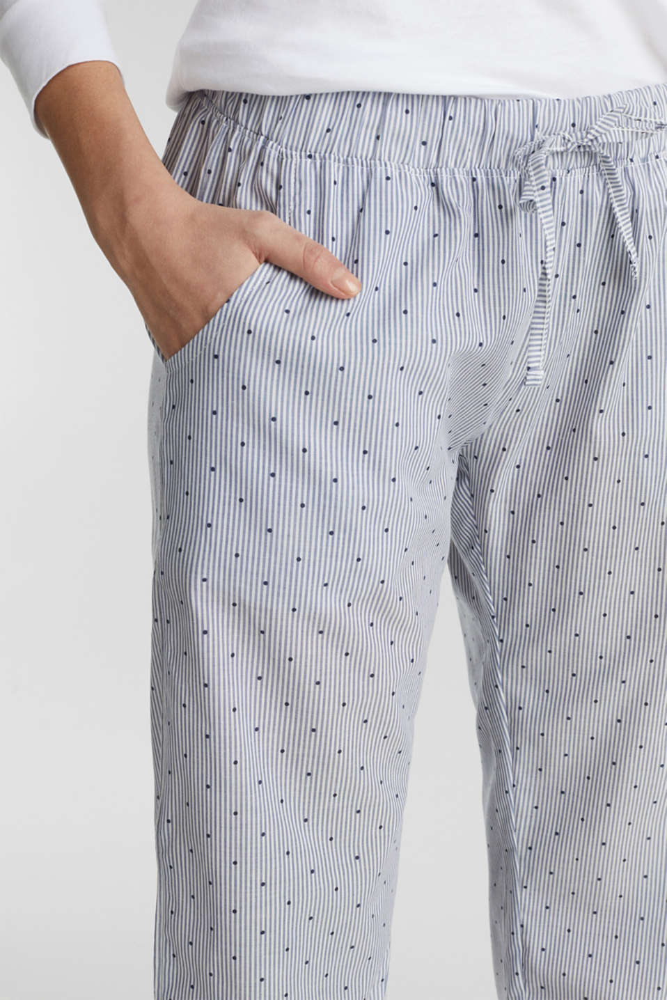 Woven trousers made of 100% cotton, BLUE LAVENDER, detail image number 2