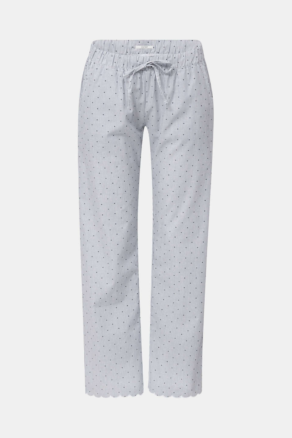 Woven trousers made of 100% cotton, BLUE LAVENDER, detail image number 7