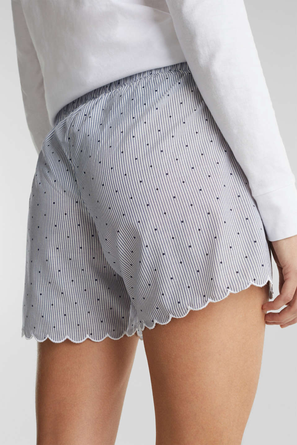 Woven shorts in 100% cotton, BLUE LAVENDER, detail image number 5