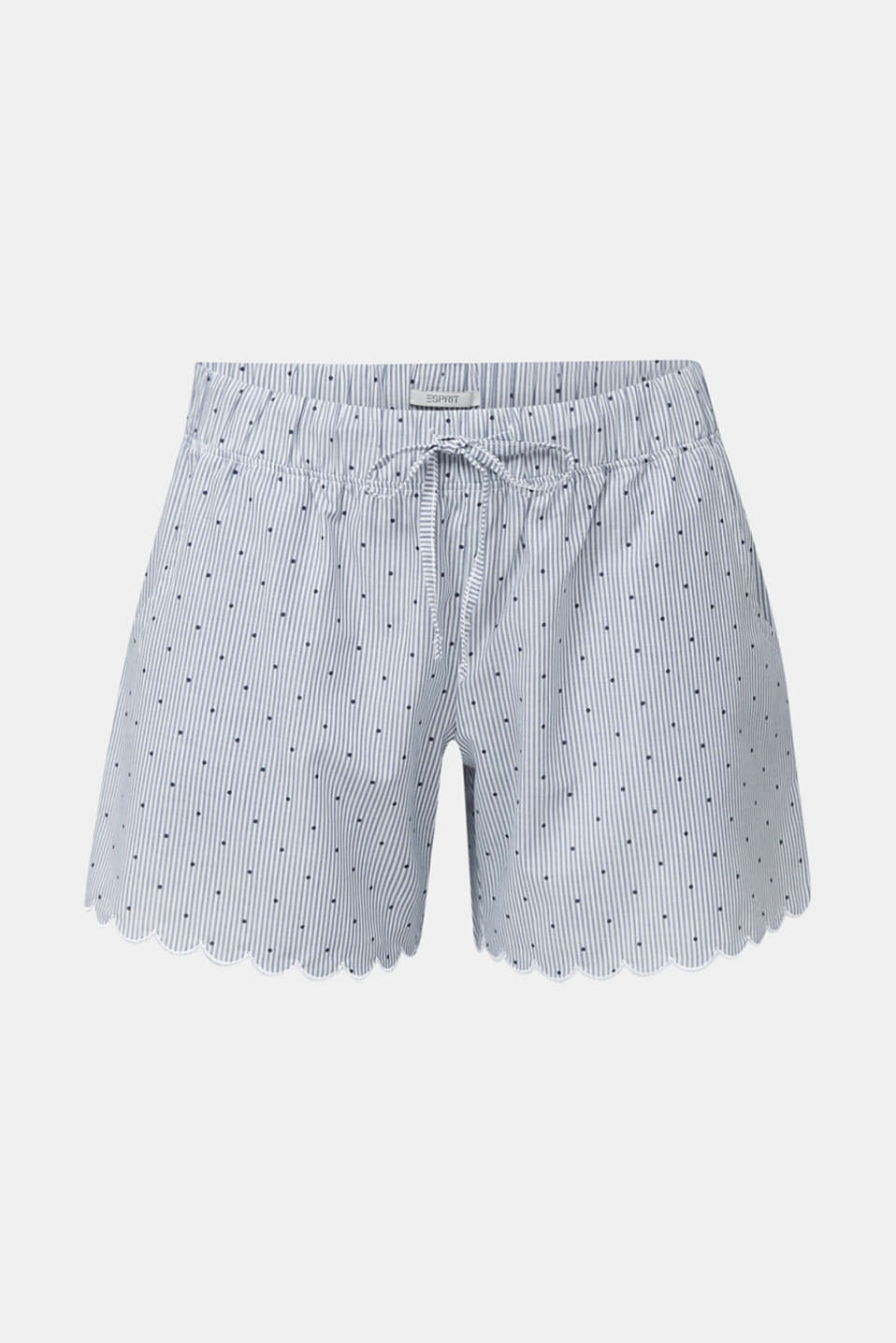 Woven shorts with a mix of patterns, 100% cotton, BLUE LAVENDER, detail image number 7