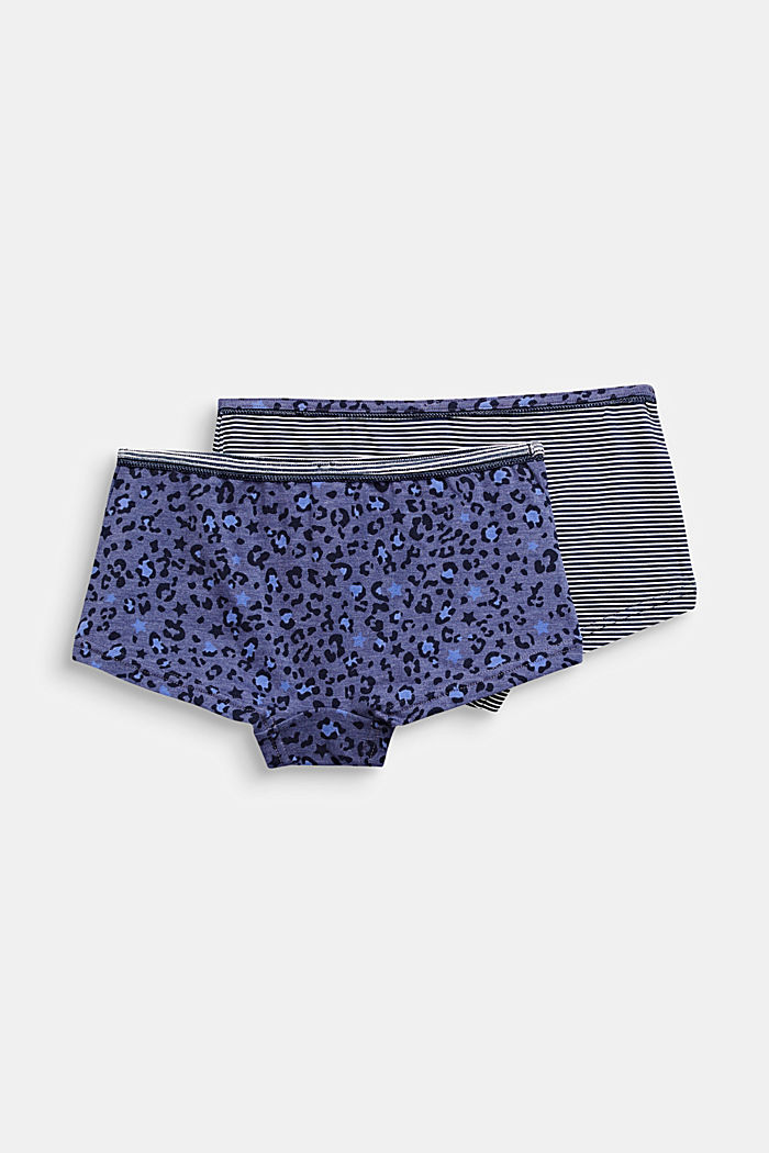 Double pack of shorts with a print, NAVY, detail image number 2