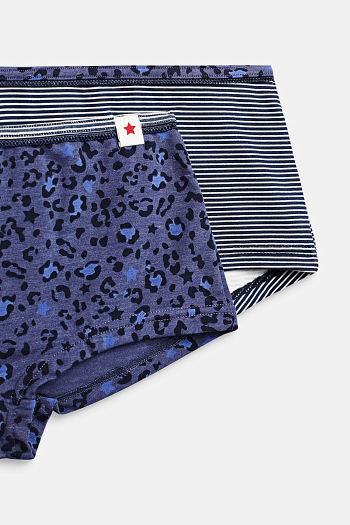 Double pack of shorts with a print, NAVY, detail image number 1