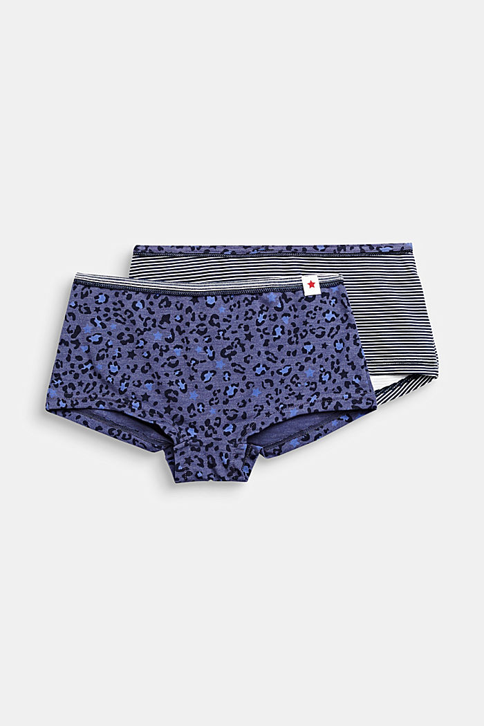 Double pack of shorts with a print, NAVY, detail image number 0