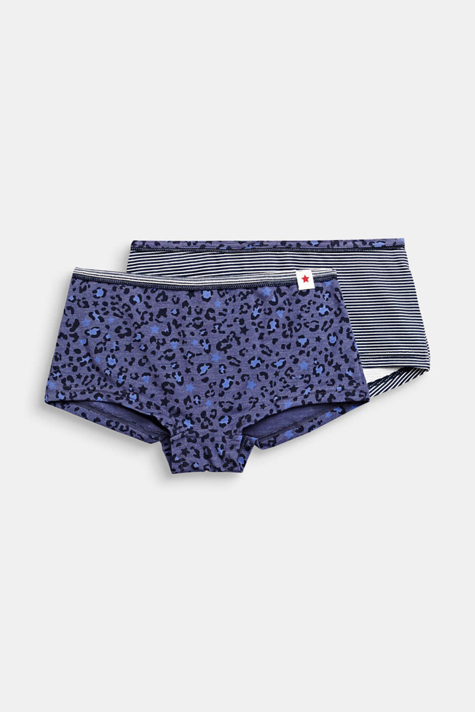 Double pack of shorts with a print, NAVY 2, detail image number 0