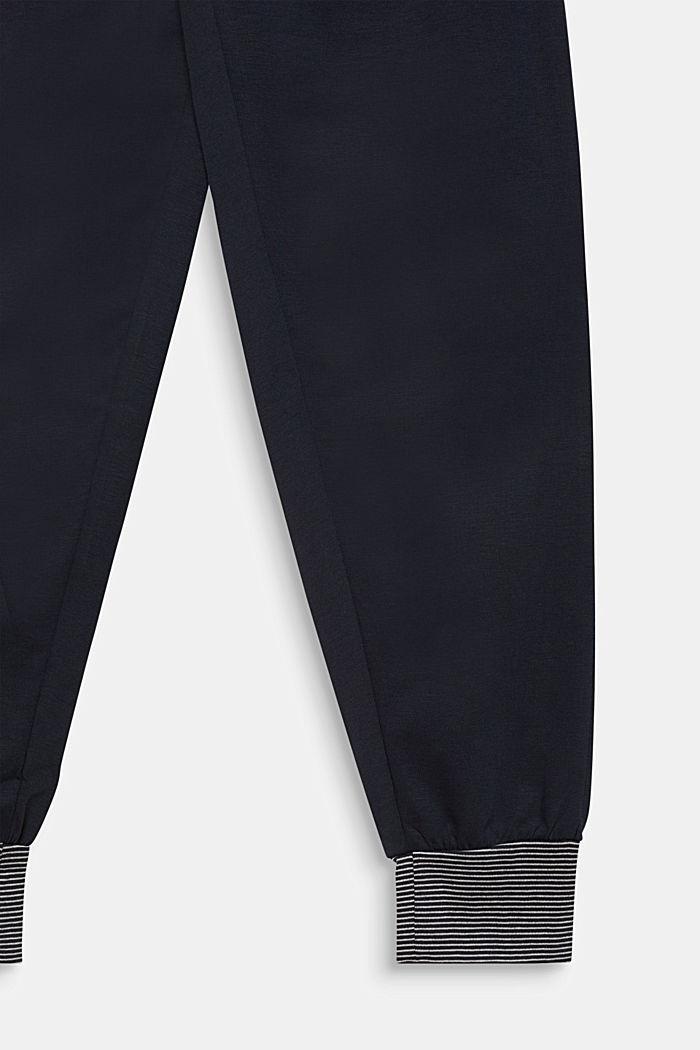 Pyjama met motiefprint, 100% katoen, NAVY, detail image number 3