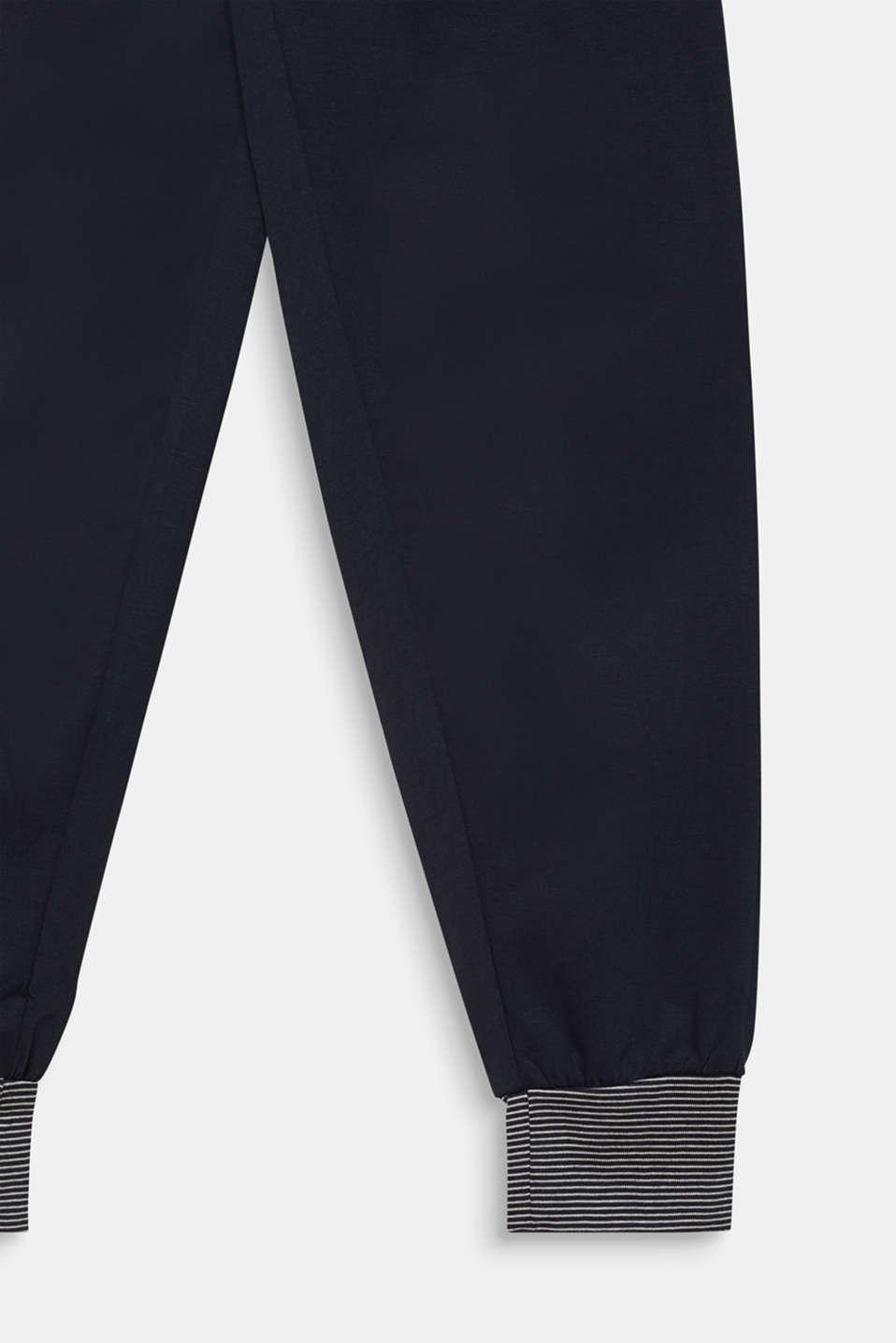 Pyjamas with a printed motif, 100% cotton, NAVY 2, detail image number 3