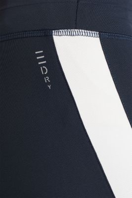 Capri leggings with stripes, E-DRY, NAVY 2, detail