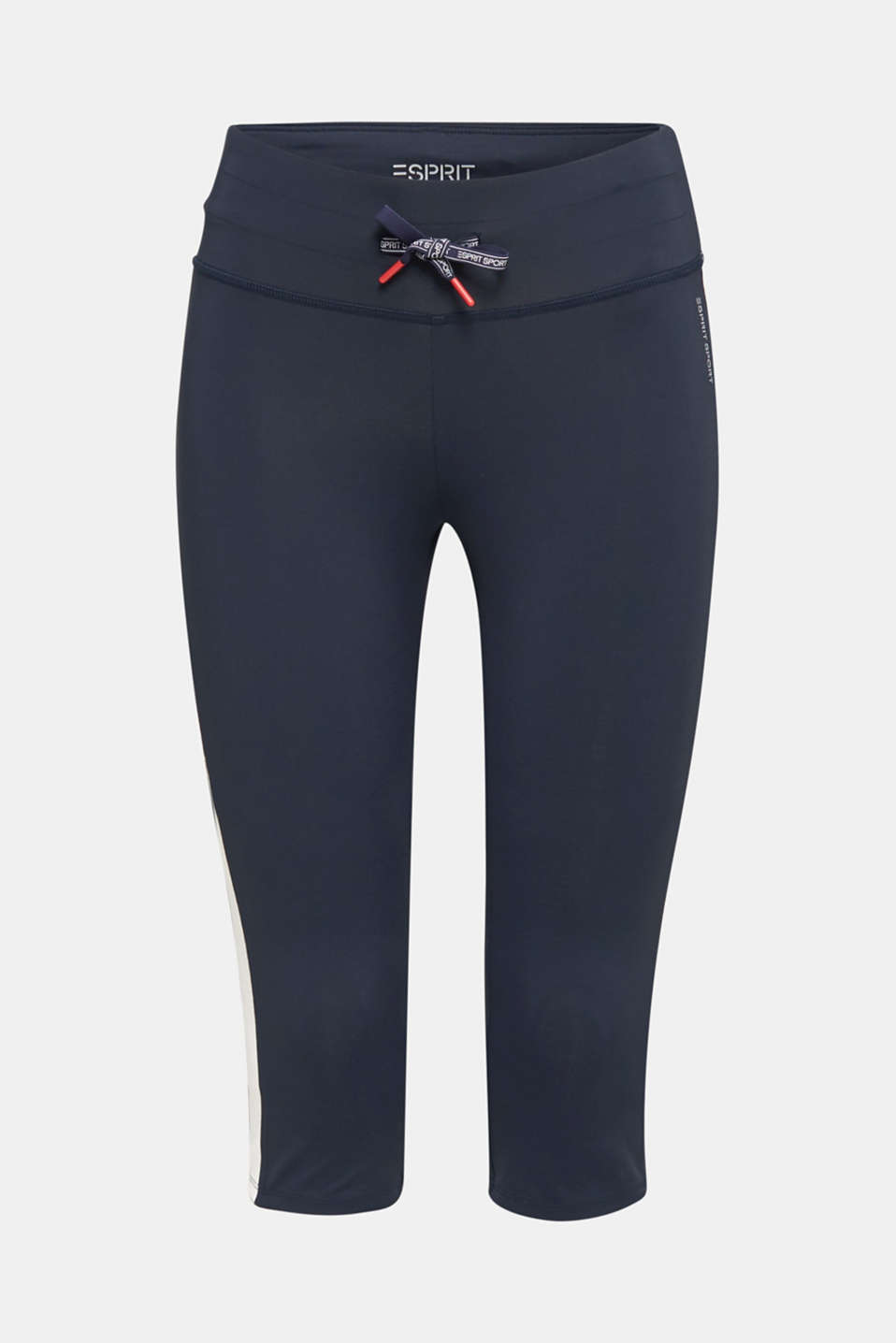 Capri leggings with stripes, E-DRY, NAVY 2, detail image number 6