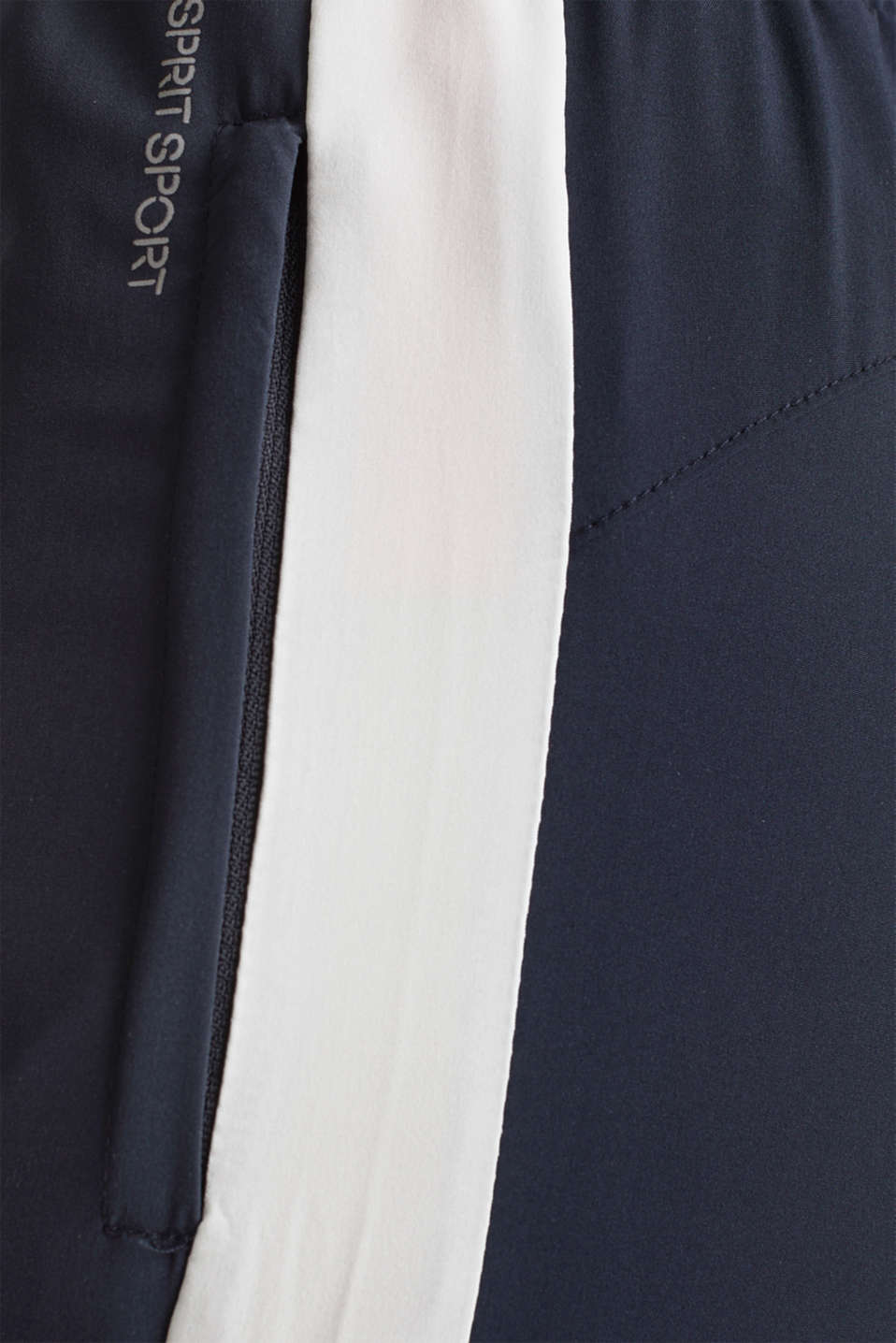 Active trousers with stripes, E-DRY, NAVY 2, detail image number 3