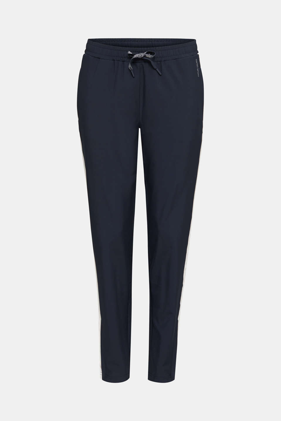 Active trousers with stripes, E-DRY, NAVY 2, detail image number 6