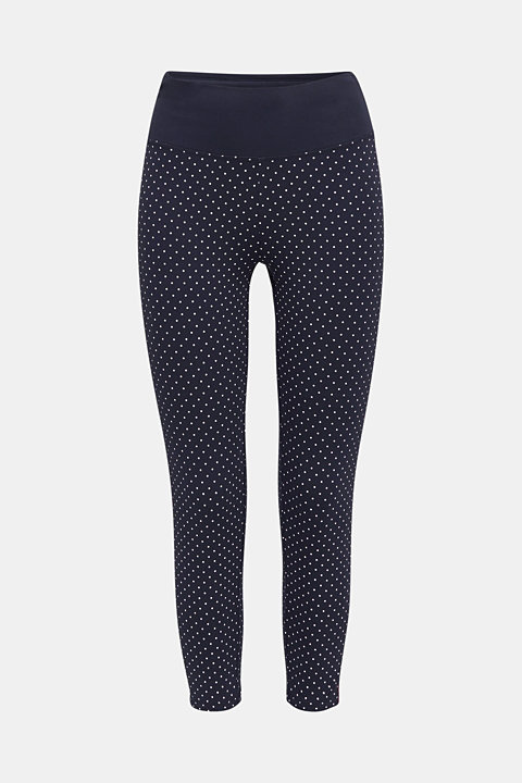 Leggings with a polka dot print