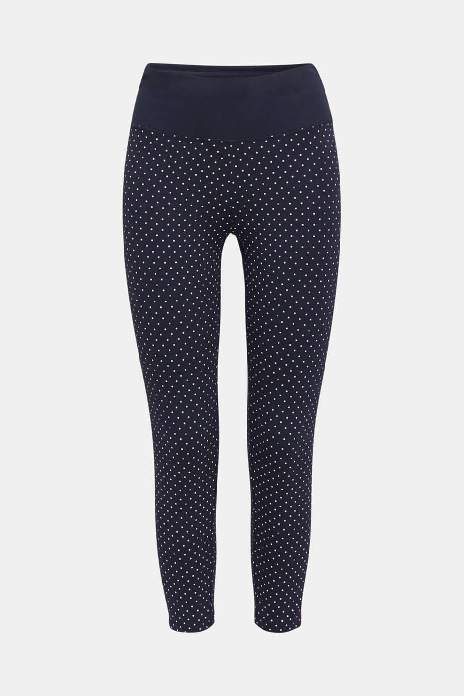 Leggings with a polka dot print, NAVY 3, detail image number 7